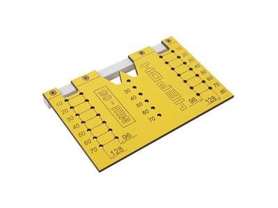 Шаблон для разметки отверстий под мебельные ручки-кнопки и ручки-скобы (96мм и 128мм), МШ-05 Изображение 3
