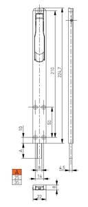 Шпингалет накладной MEDOS, 225мм, вылет 35мм, белый Изображение 2