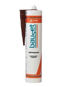 Герметик силикон нейтральный, коричневый, 310мл Изображение