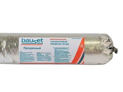 Нейтральный силиконовый герметик Bauset TK-600 (прозрачный, 600 мл) Изображение 2