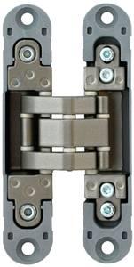 Петля скрытая, 3D, универсальная, 120x23 мм, 40 кг, цамак/нейлон, никель матовый Изображение