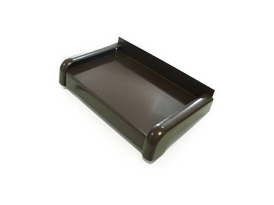 Слив наружный алюминиевый 360 мм коричневый, 6 м Изображение 2