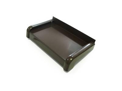 Алюминиевые отливы оконные BAUSET (B=320 мм, коричневый RAL8014) [РАСПИЛ В РАЗМЕР] Изображение 2
