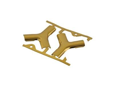 Соединение Y-образное Helima  8мм золотое Изображение