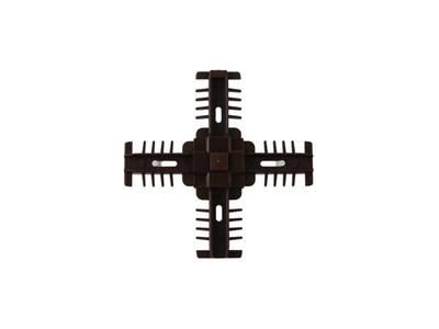 Соединение декоративное крестовое Isabel 25мм, коричневое Изображение