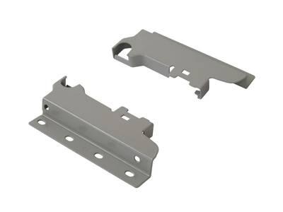 Соединители задней стенки из ДСП для 1-го релинга Firmax, серебристый (L+R) Изображение 3
