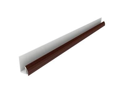 Стартовый профиль дверной QUNELL (St-25 мм, махагон) [РАСПИЛ В РАЗМЕР] Изображение