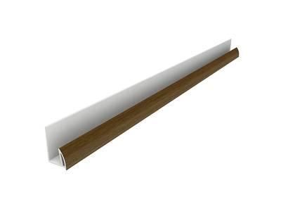 Стартовый профиль дверной QUNELL (St-25 мм, орех) [РАСПИЛ В РАЗМЕР] Изображение
