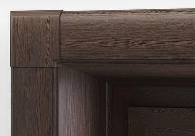 Стартовый профиль дверной QUNELL (St-25 мм, темный дуб) [РАСПИЛ В РАЗМЕР] Изображение 6
