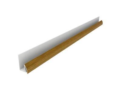Стартовый профиль дверной QUNELL (St-25 мм, золотой дуб) [РАСПИЛ В РАЗМЕР] Изображение