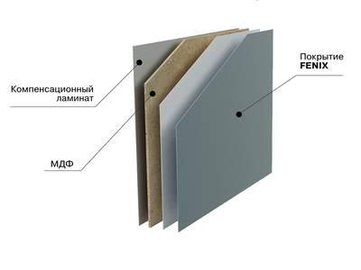 Стеновая панель FENIX Топленое молоко 0719, МДФ  4200*7*600мм. Изображение 2