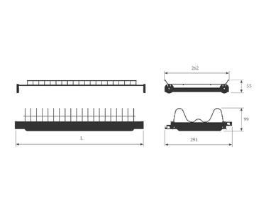 Сушка 2-х уровневая для тарелок/чашек в базу 450мм(для плиты 16мм), с рамой, с пласт. поддоном, антрацит Изображение 2