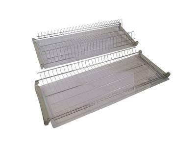 Комплект сушек для посуды FIRMAX база 700, ширина 668мм, с рамой (сушка для тарелок, сушка для чашек, поддон, саморезы) Изображение