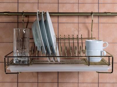 Сушка для посуды навесная бронза Изображение 2