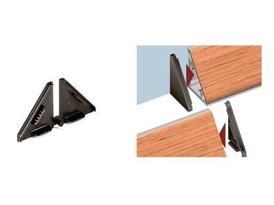 Комплект торцевых заглушек треугольного пристеночного бортика SCILM (H=30 мм, пластик, серый) Изображение 3