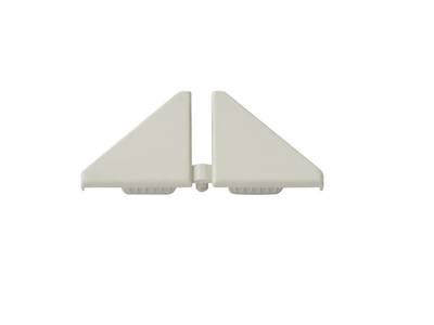 Комплект торцевых заглушек треугольного пристеночного бортика SCILM (H=30 мм, пластик, серый) Изображение 2