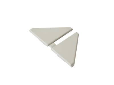 Комплект торцевых заглушек треугольного пристеночного бортика SCILM (H=30 мм, пластик, серый) Изображение 4