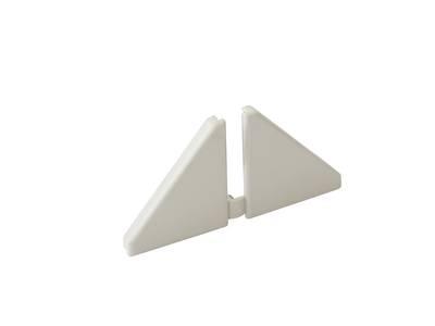 Комплект торцевых заглушек треугольного пристеночного бортика SCILM (H=30 мм, пластик, серый) Изображение