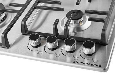 Газовая варочная поверхность Kuppersberg TS 63 X, нержавеющая сталь Изображение 3