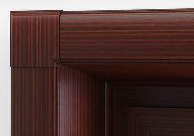 Угловая накладка для дверного наличника Qunell U-81 махагон (Renolit 2097-013) Изображение 3