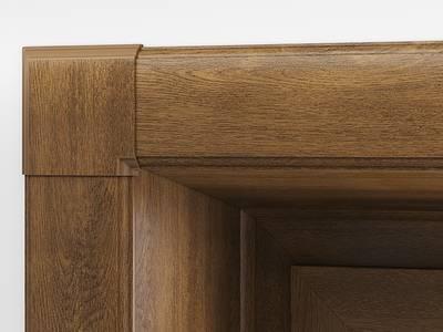 Угловая накладка для дверного наличника Qunell U-81 орех (Renolit 2178-007) Изображение 3