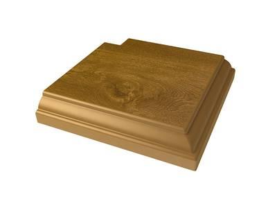 Угловая накладка для дверного наличника Qunell U-81 золотой дуб (Renolit 2178-001) Изображение