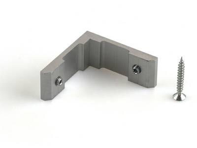 Угловое соединение основного профиля 45 градусов, серебро Изображение