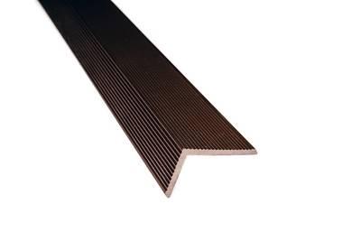 Угловой закрывающий L-профиль Wooddecker шоколад 40х60х4000 мм Изображение