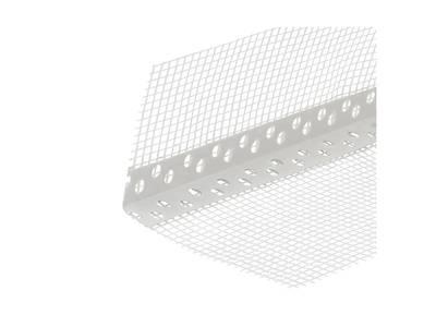 Уголок перфорированный ПВХ с сеткой 100х150 мм белый 2,5 м Изображение