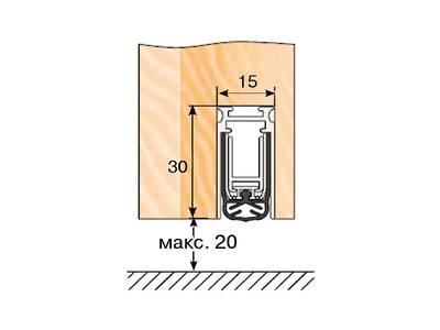 Уплотнитель пороговый DEVENTER  L=834 Изображение 2