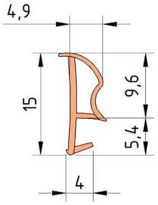 Уплотнитель контурный для межкомнатных дверей DEVENTER, ПВХ (т), бежевый RAL 1001 Изображение