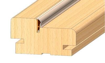 Уплотнитель контурный для межкомнатных дверей DEVENTER, ПВХ (т), бежевый RAL 1001 Изображение 4