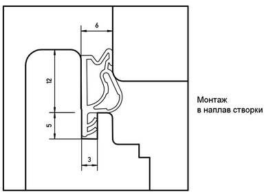Уплотнитель для окон на наплаве и фальце Deventer S7503 (цинковый-серый) [норма отпуска 5 м] Изображение 2