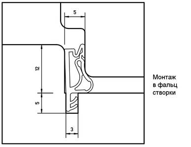 Уплотнитель для окон на наплаве и фальце Deventer S7503 (цинковый-серый) [норма отпуска 5 м] Изображение 3