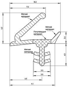 Уплотнитель для окон на раму Deventer S7624 (темно-коричневый) [норма отпуска 5 м] Изображение