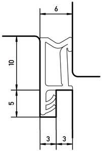 Уплотнитель SP103 для окон на наплаве, чёрный Изображение 2