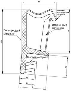 Уплотнитель для окон на наплаве Deventer SP103 (темно-коричневый) [норма отпуска 5 м] Изображение 2