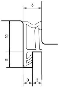 Уплотнитель для окон на наплаве Deventer SP103 (темно-коричневый) [норма отпуска 5 м] Изображение 3