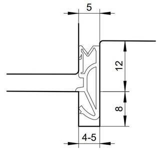 Уплотнитель для деревянных евроокон DEVENTER на фальц створки, ширина паза 4-5 мм, ТЭП, бежевый RAL 1001 Изображение 7