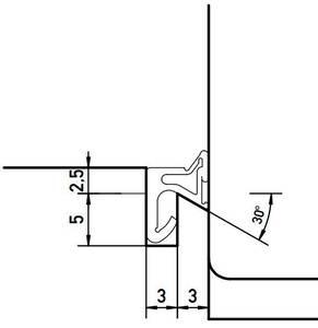 Уплотнитель для деревянных евроокон DEVENTER на наплав створки, ширина паза 3 мм, ТЭП, темно-коричневый RAL 8014 Изображение 3