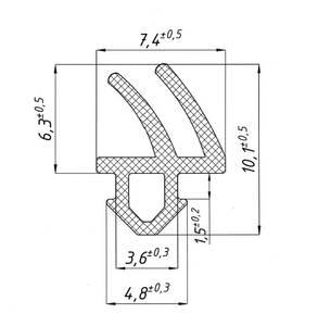 Уплотнитель для ПВХ окон REHAU (952, рама, створка, чёрный) [норма отпуска 5 м] Изображение 2