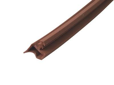 Уплотнитель контурный для межкомнатных дверей DEVENTER, ПВХ, коричневый Изображение 4