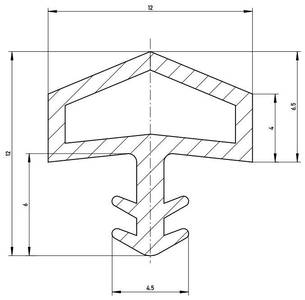 Уплотнитель контурный для межкомнатных дверей DEVENTER, ПВХ, коричневый Изображение 2