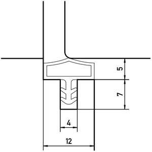 Уплотнитель контурный для межкомнатных дверей DEVENTER, ПВХ, коричневый Изображение 3
