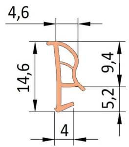 Уплотнитель контурный для межкомнатных дверей DEVENTER, ТЭП, белый Изображение