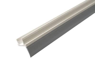 Уплотнитель порога дверной створки Elementis, материал ПВХ+ППВХ, длина 1180мм. (±5 мм.), цвет белый/серый Изображение