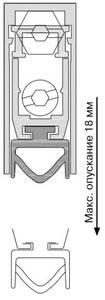 Уплотнитель пороговый, длина 730 мм, в паз 12x28,5 мм Изображение 3