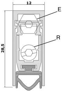 Уплотнитель пороговый, длина 830 мм, в паз 12x28.5 мм Изображение 2