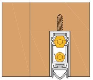 Уплотнитель пороговый, длина 830 мм, в паз 12x28.5 мм Изображение 4