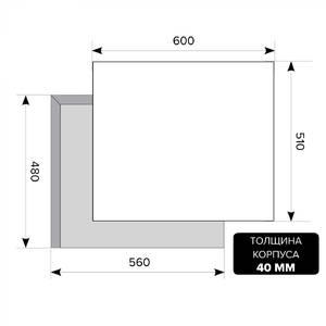 Варочная панель газовая GVE 6044-1 C IV LIGHT, ширина 600 мм, слоновая кость светлая Изображение 2